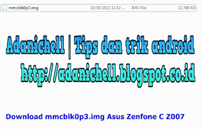 Download mmcblk0p3.img Asus Zenfone C Z007