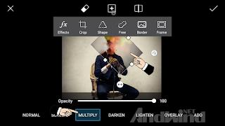cara edit foto kepala ledakan menggunakan picsart android