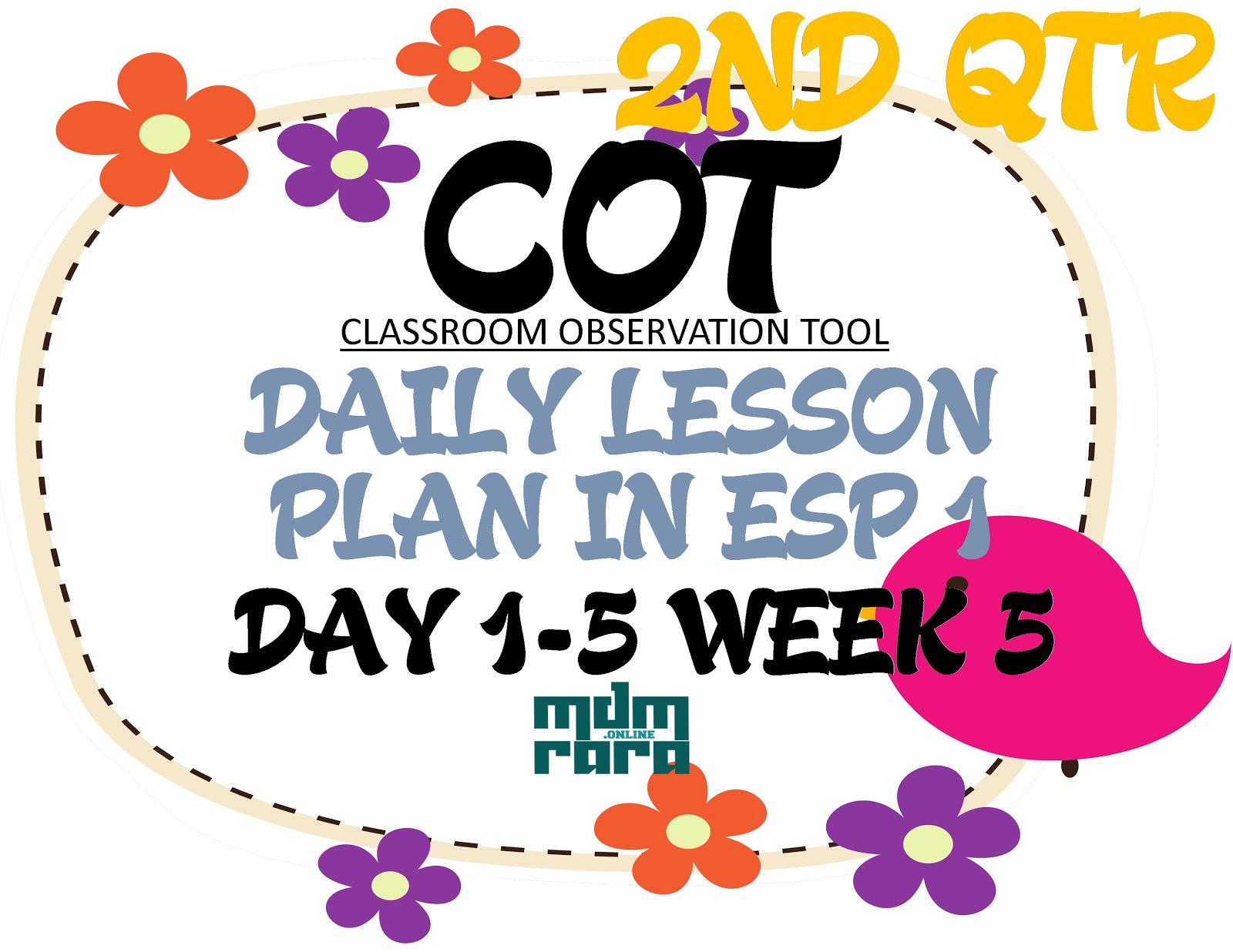 Week 5 Cot Dlp In Esp Grade 1