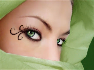 Eye Makeup Green Color Best Photo