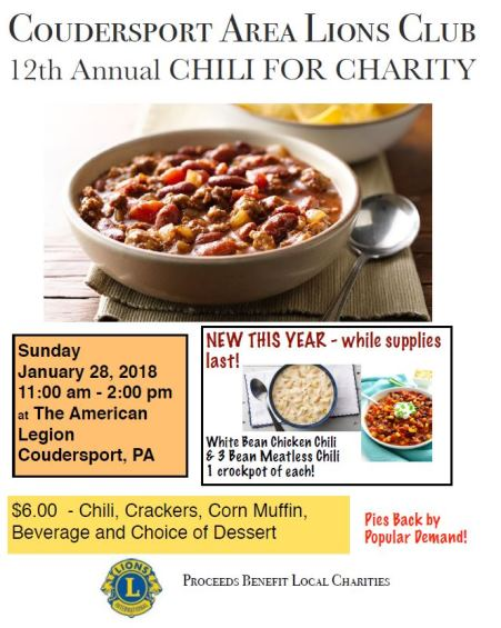 1-28 Lions Club Chili For Charity