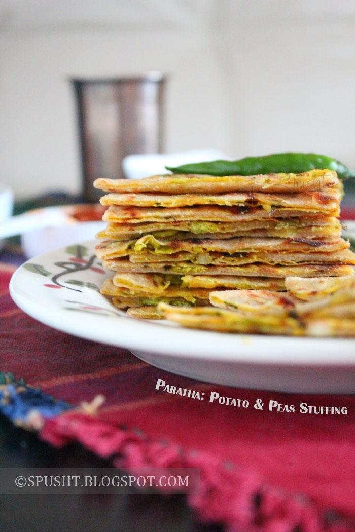 Spusht   Aloo Matar Paratha Recipe