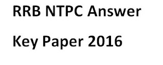 RRB NTPC Answer Key Paper 2016- Solved Question Paper