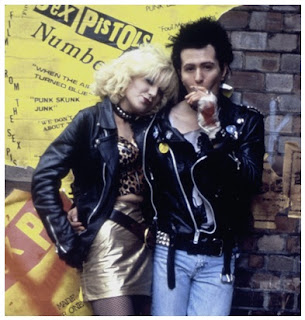 Model Jaket Kulit Sex Pistols Sid Vicious dan Nancy