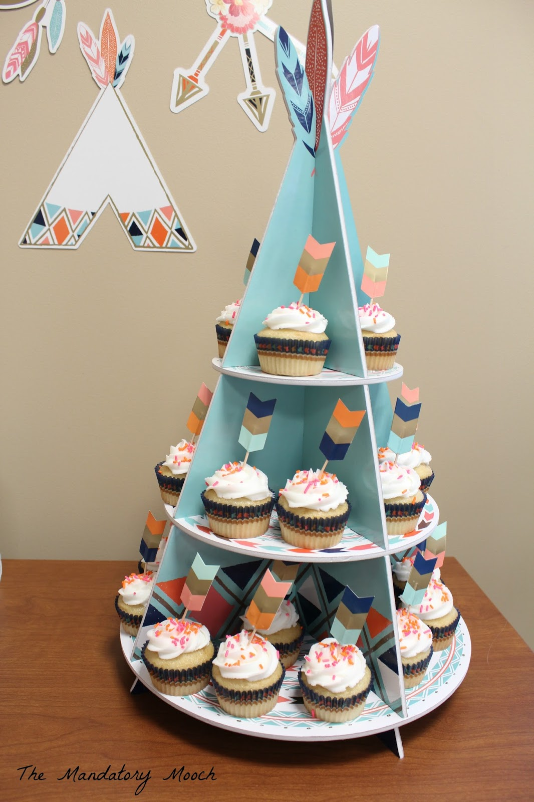 Tribal Baby Shower Cupcake Stand The Mandatory Mooch Tribal Themed