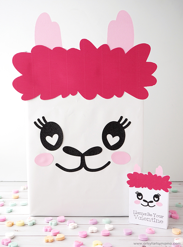 Llama Valentine Card Box and Llama Valentine Treat Boxes