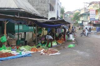 Usai Lebaran, Pasar Ekspres Pendopo Sepi Pembeli