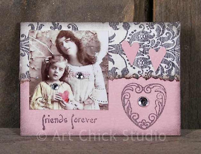 Friends Forever ATC Altered Art