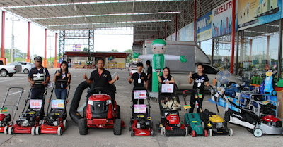 Buriram Thailand lawn mower sales repair display