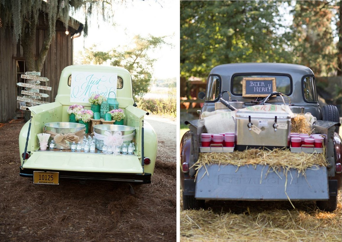 Tailgate Pickup Truck Wedding Drink Station