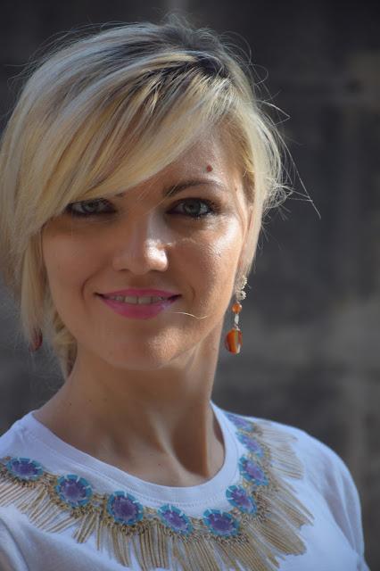 mariafelicia magno fashion blogger ragazze bionde blonde hair blonde girls blondie orecchini sara greco