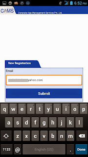 myCAMS New User Registration
