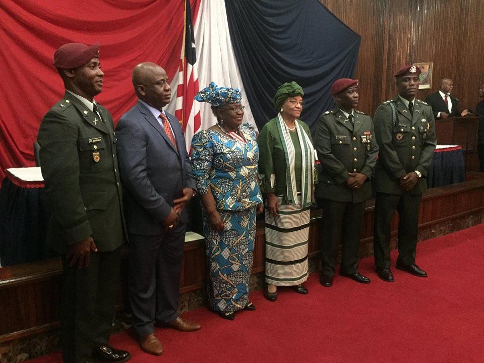 Ngozi Okonjo-Iweala gets awards from presidents Of Liberia And Ivory Coast