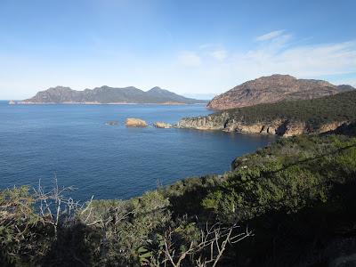 Vistas desde el faro del Torville cape. Freycinet, en Tasmania