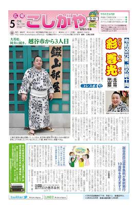 広報こしがやお知らせ版 令和元年5月