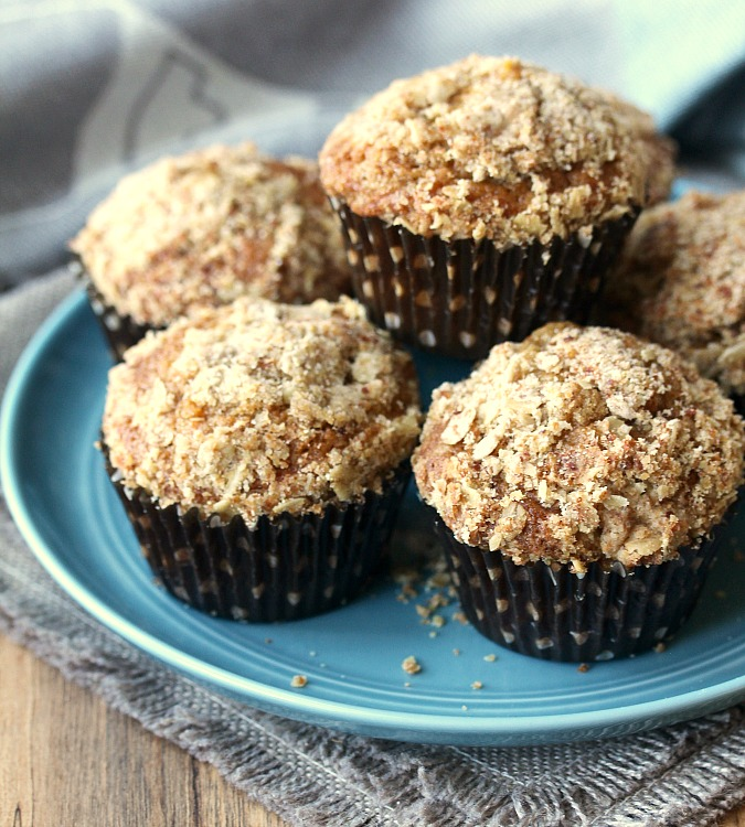 Bouchon Bakery Style Carrot Muffins with streusel