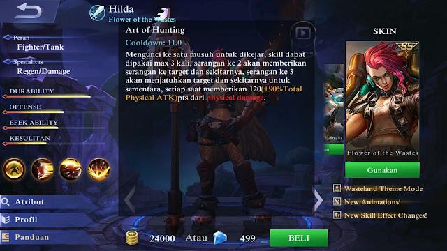 Hilda, Jenis Hero Dalam Game Mobile Legends
