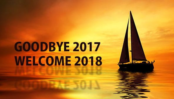 Goodbye 2017 Welcome 2018 Messages Greetings Image