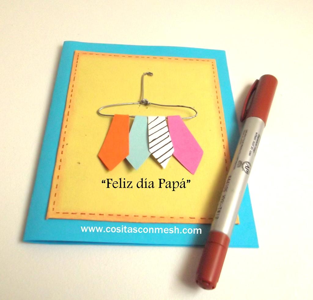 Tarjetas Para Papa Hechas A Mano - Diseño Artesanal