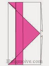 Bước 7: Bạn có thể dùng keo dán giấy dán cạnh mặt đằng sau lại để hoàn thành cách xếp phong bì bằng giấy đơn giản.