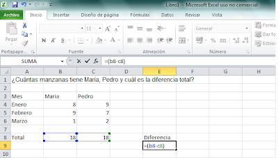 Formula Para Restar En Excel
