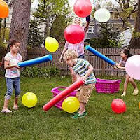 Obstacle Course with Pool Noodles