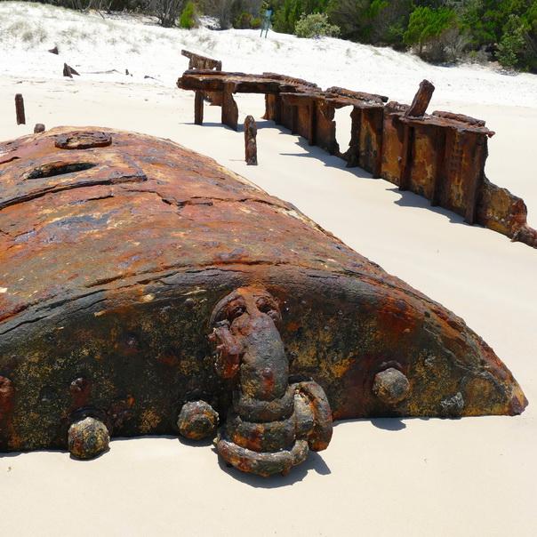 Bulwer Wrecks Schiffs-Wracks Kessel Dampfschiff Strand Moreton Island