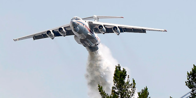 Ilyushin IL76, sent by the Russian Government to fight forest fires in Chile.