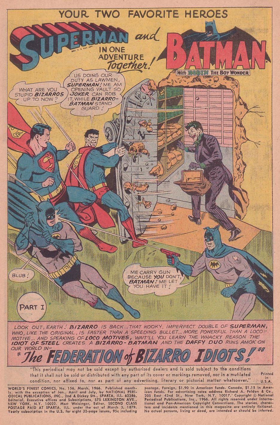 Read online World's Finest Comics comic -  Issue #156 - 3