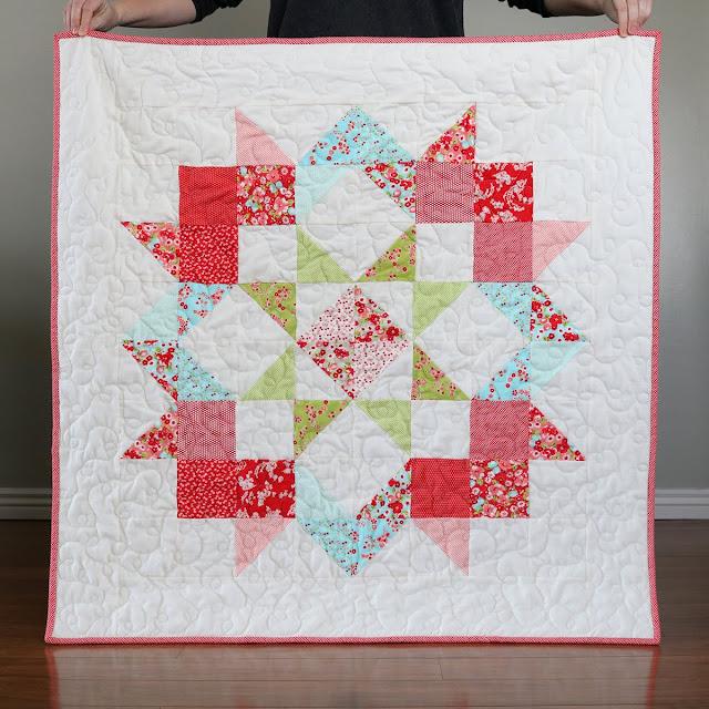Moda Love - a free baby quilt pattern from Moda Fabrics