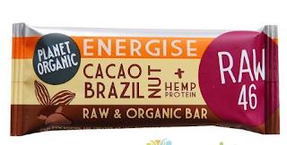 Comanda de aici baton proteic raw organic cu gust de cacao si nuci braziliene