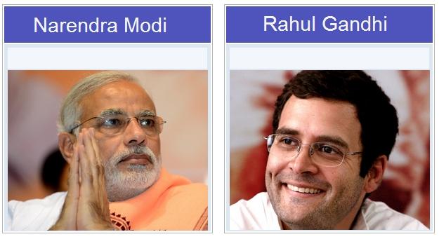 Narendra Modi Rahul Gandhi Poll