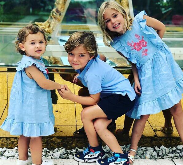 Princess Madeleine published a new photo of her childrens Princess Leonore, Prince Nicolas and Princess Adrienne