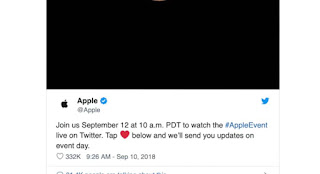 Apple tweets on twitter