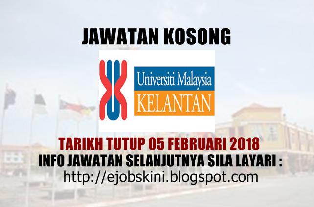 Jawatan Kosong Universiti Malaysia Kelantan (UMK) - 05 ...