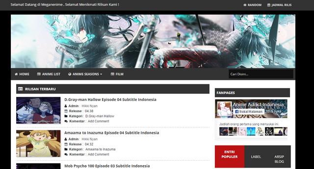 Edogawa Anime Fansub Responsive Blogger Templates