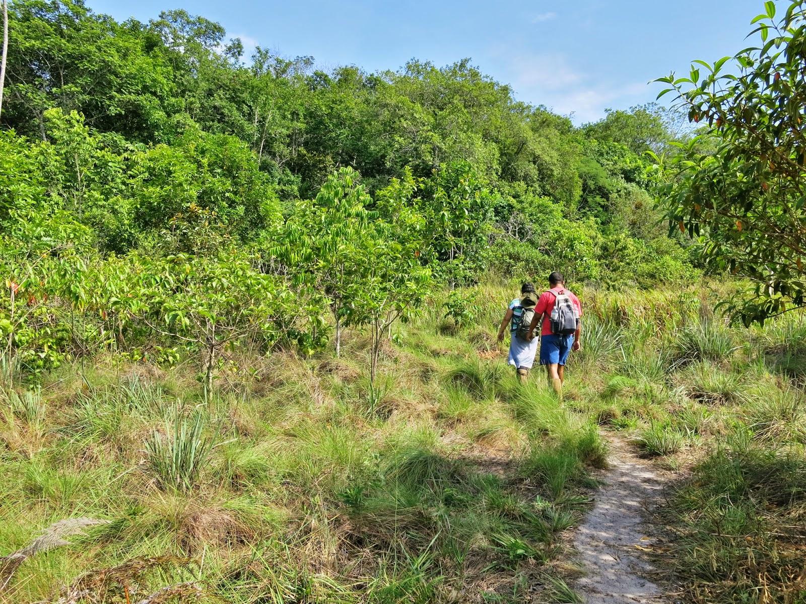 Trilha para a Caverna Aroe-Jari e Lagoa Azul, na Chapada dos Guimarães.