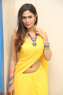 Nishigandha in Yellow backless Strapless Choli and Half Saree Spicy Pics 135.JPG