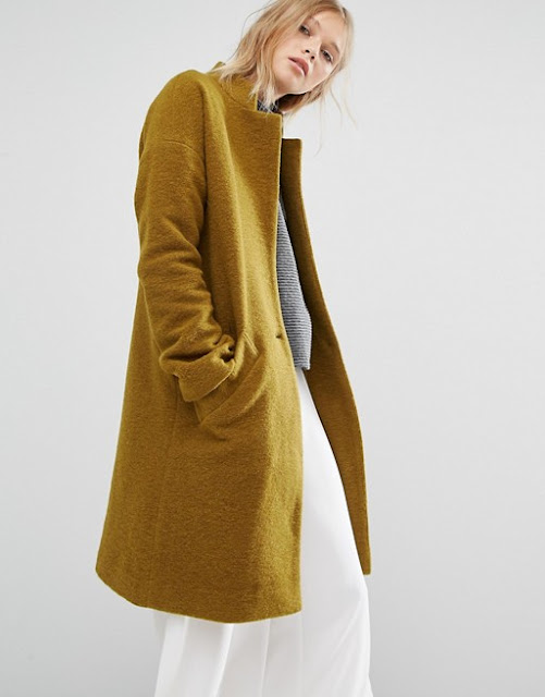 native youth mustard coat, mustard wool coat, womens mustard winter coat, mustard winter coat, \