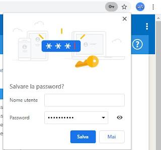 Salva password