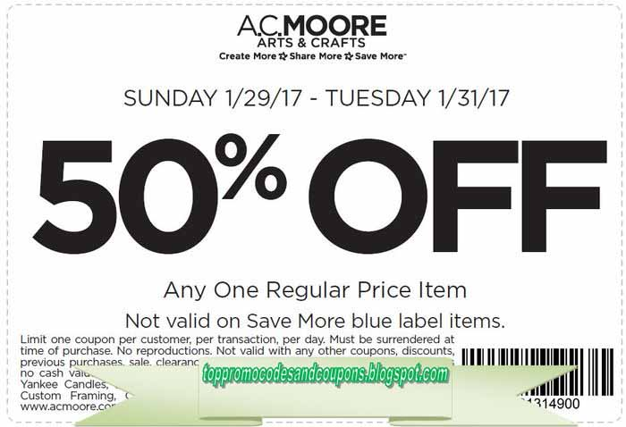 Free Promo Codes and Coupons 2019: AC Moore Coupons
