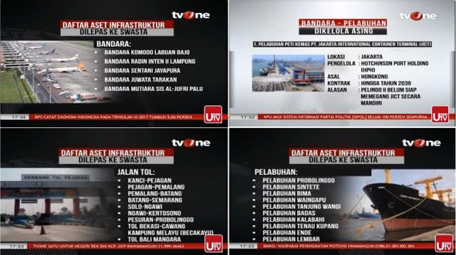 Liputan tvOne: Saat Pilpres Janjinya Buyback Indosat, Kok Malah Lepas Infrastuktur ke Swasta/Asing?
