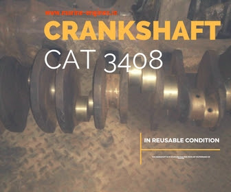 crankshaft, ship machineryl, used, recondition,reusable, cat 3408, engine, motor, sale,