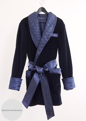 luxus hausjacke exklusiv englisch samt dunkelblau baumwolle warm hausmantel kurz morgenmantel elegant dressing gown smoking jacket