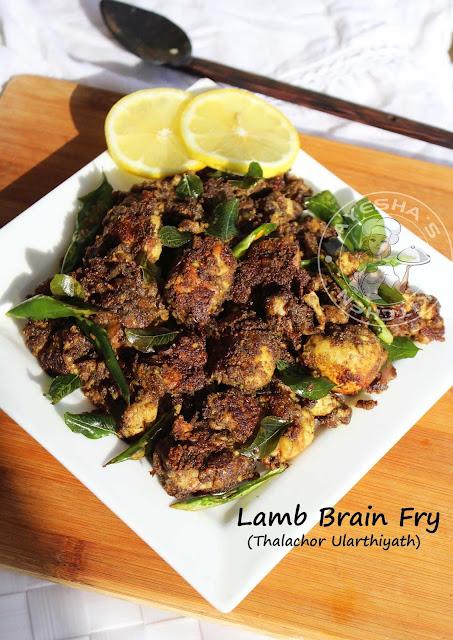 lamb beef goat brain fry brain masala malabar recipes kerala style indian brain traditional