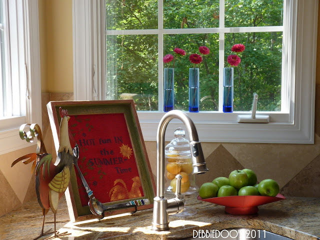 Diy kitchen art on burlap and stenciled