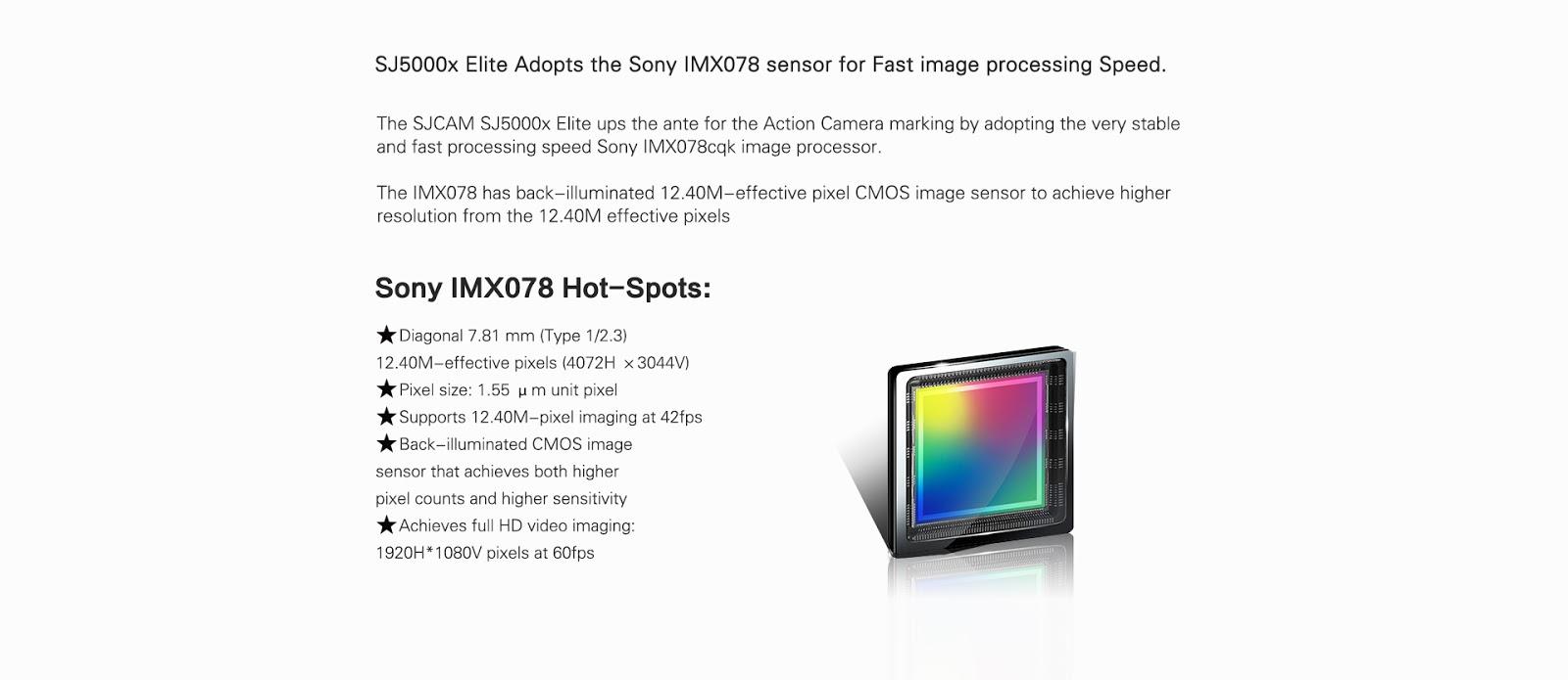 SJCAM SJ5000X Elite Edition Sony IMX078 4K Action Camera with Gyro
