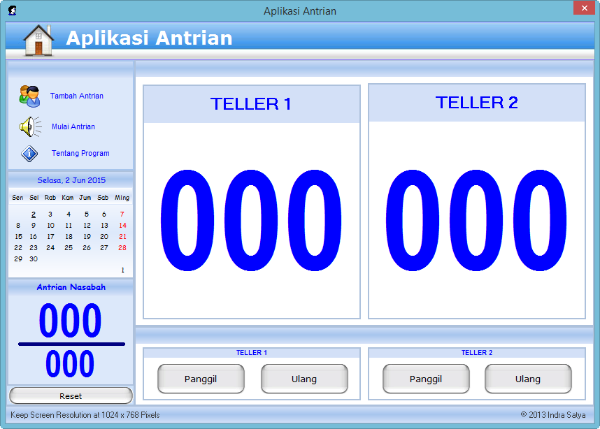 Software Antrian Free