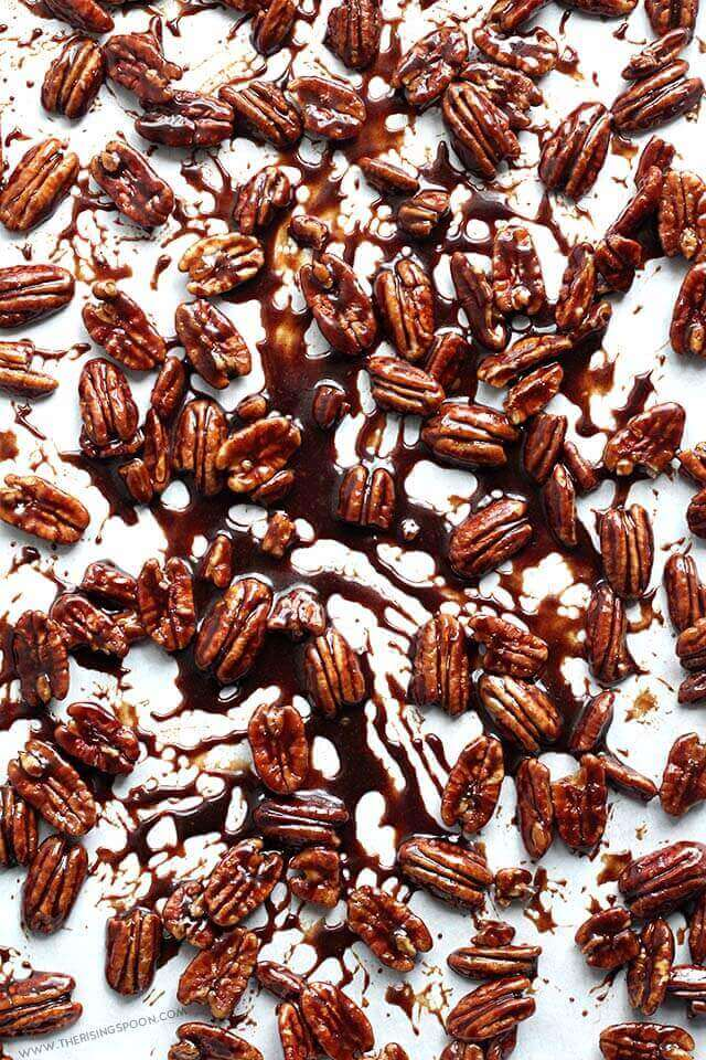 How to Make Stovetop Candied Pecans with Maple Syrup