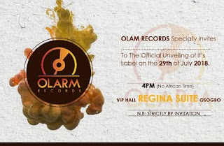 OLARM RECORDS SET TO UNVEIL ITS LABEL AND MANAGEMENT